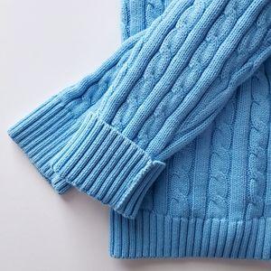L.L. Bean Baby Blue Button Knit Cardigan